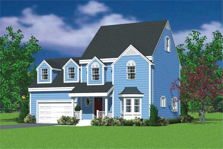 3-Bedroom, 1559 Sq Ft Country Home Plan - 137-1143 - Main Exterior