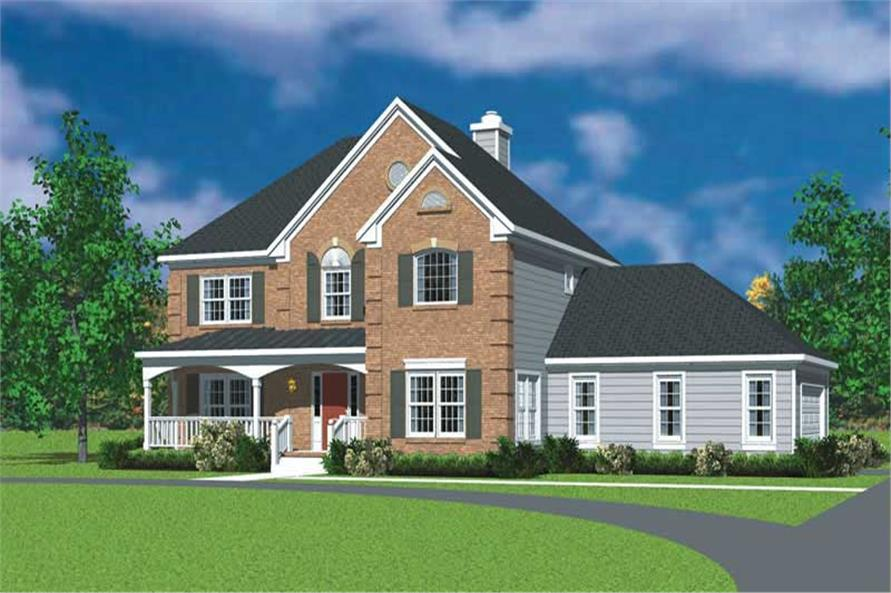 4-Bedroom, 2359 Sq Ft Country Home Plan - 137-1148 - Main Exterior