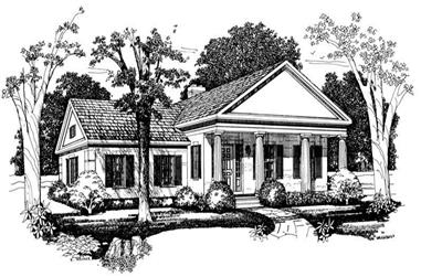 2-Bedroom, 2195 Sq Ft Colonial House Plan - 137-1149 - Front Exterior