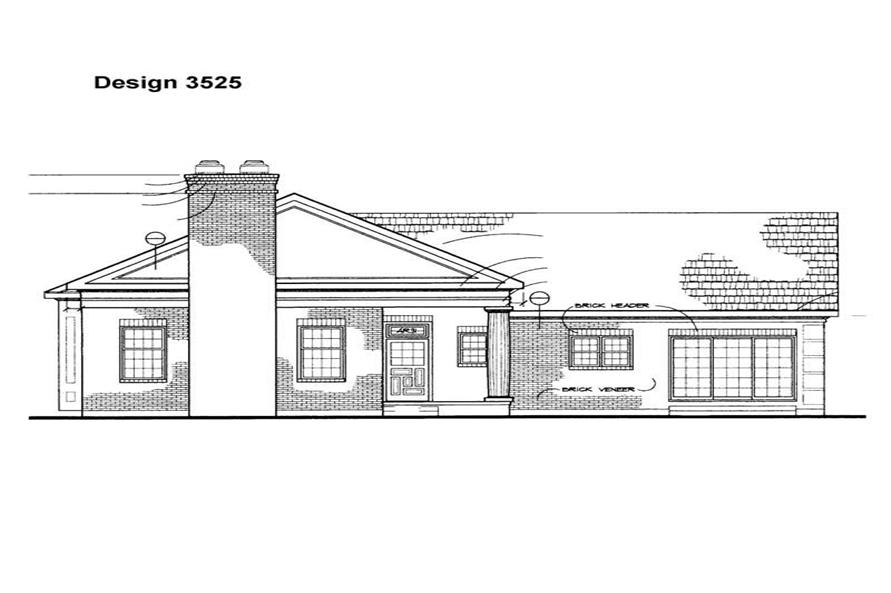 Home Plan Rear Elevation of this 2-Bedroom,2195 Sq Ft Plan -137-1149