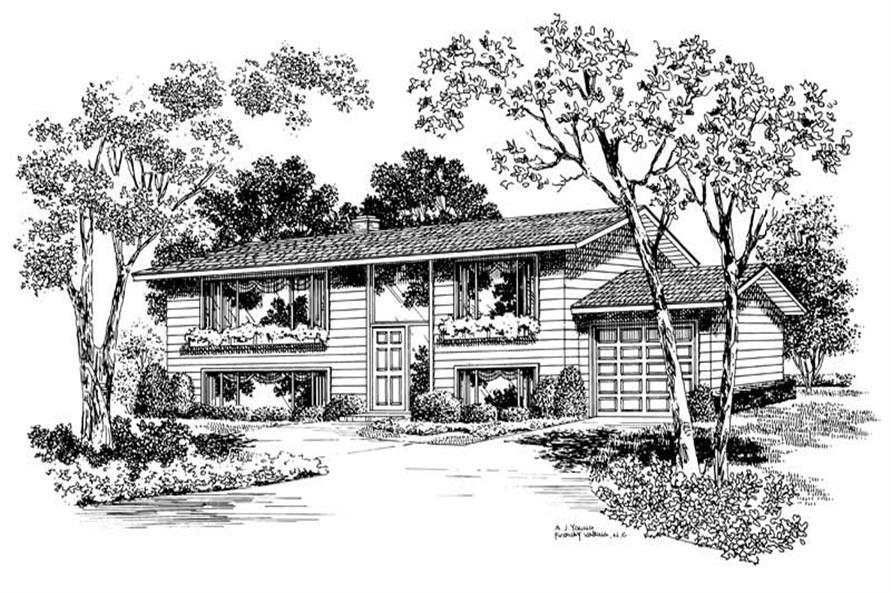 5-Bedroom, 2080 Sq Ft Contemporary House Plan - 137-1155 - Front Exterior