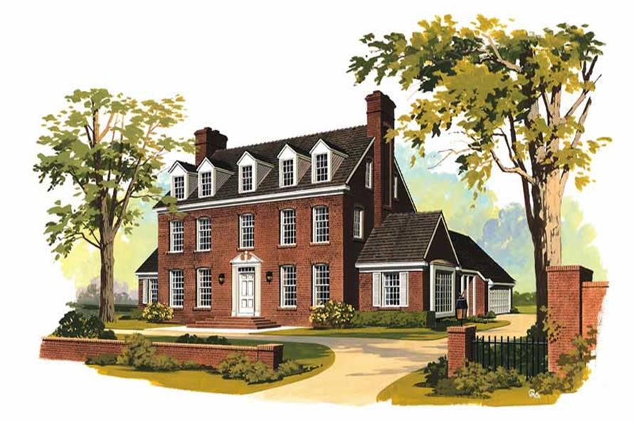 5-Bedroom, 3556 Sq Ft Colonial Home Plan - 137-1159 - Main Exterior