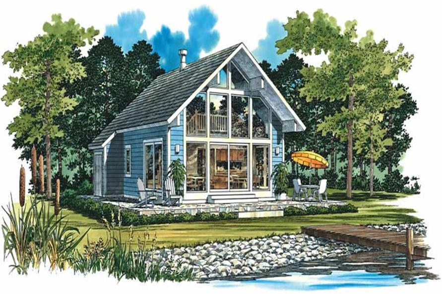 2-Bedroom, 1059 Sq Ft Contemporary Home Plan - 137-1163 - Main Exterior