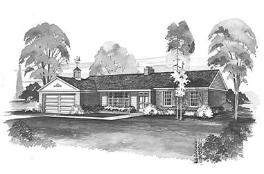 4-Bedroom, 1690 Sq Ft Ranch Home Plan - 137-1165 - Main Exterior