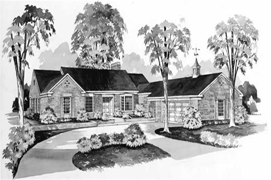 3-Bedroom, 3107 Sq Ft Ranch Home Plan - 137-1166 - Main Exterior