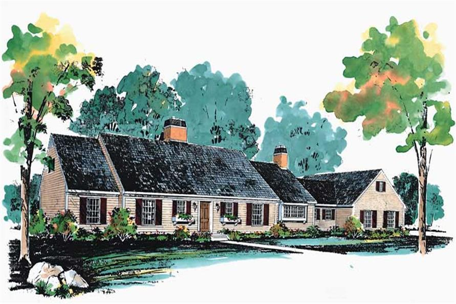 3-Bedroom, 3046 Sq Ft Cape Cod Home Plan - 137-1169 - Main Exterior