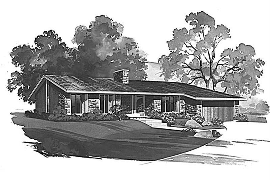 3-Bedroom, 2652 Sq Ft Ranch Home Plan - 137-1171 - Main Exterior