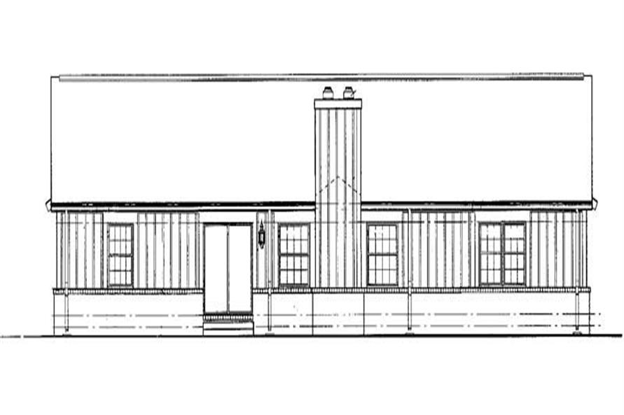 Home Plan Rear Elevation of this 3-Bedroom,2076 Sq Ft Plan -137-1176