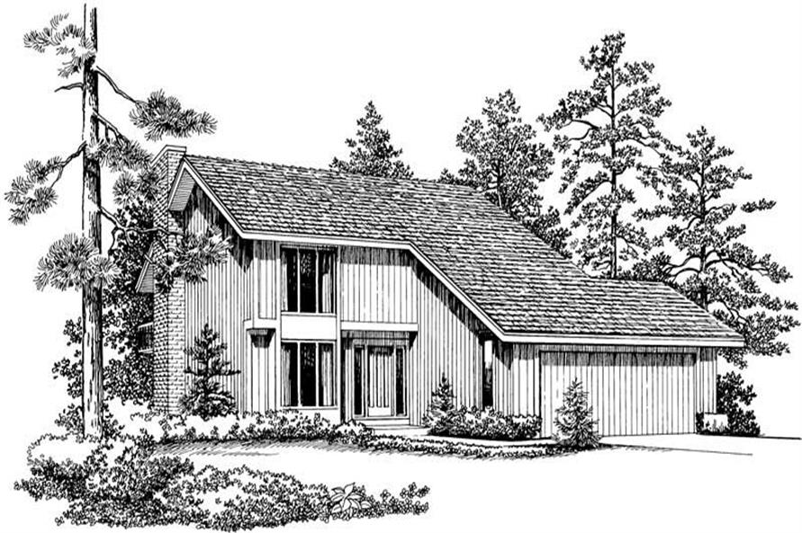 Home Plan Front Elevation of this 3-Bedroom,1999 Sq Ft Plan -137-1178