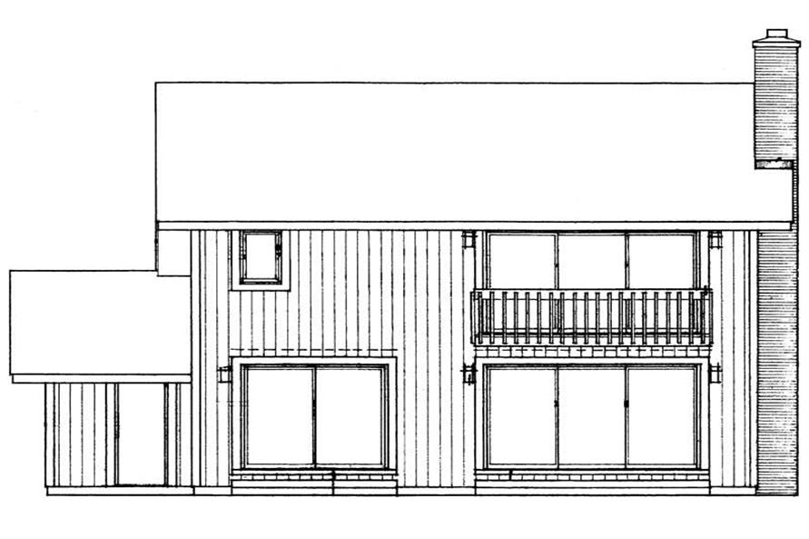 Home Plan Rear Elevation of this 3-Bedroom,1999 Sq Ft Plan -137-1178