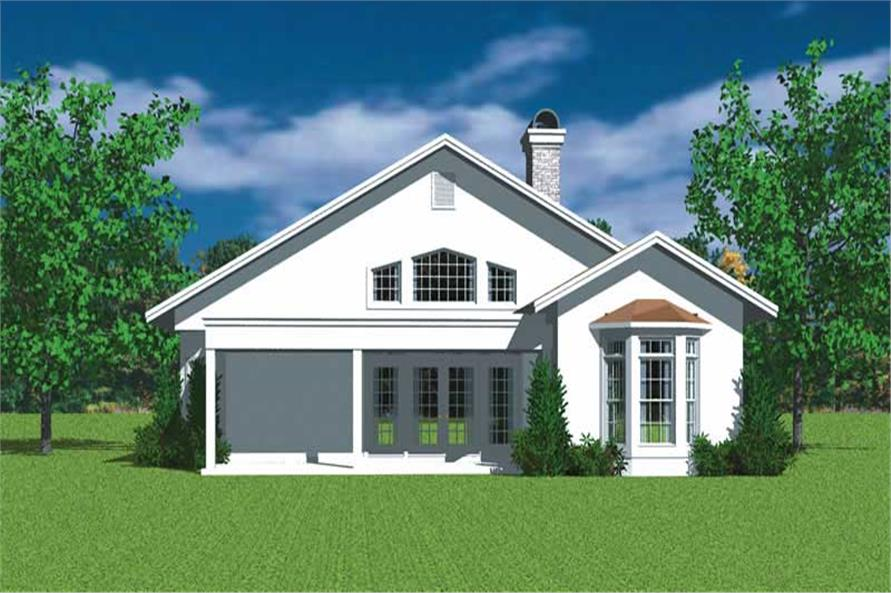 Home Plan Rear Elevation of this 3-Bedroom,2000 Sq Ft Plan -137-1179