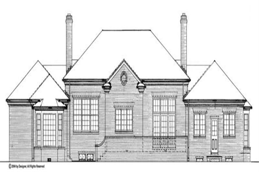 Home Plan Rear Elevation of this 4-Bedroom,3462 Sq Ft Plan -137-1180