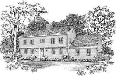 4-Bedroom, 3213 Sq Ft Colonial House Plan - 137-1181 - Front Exterior