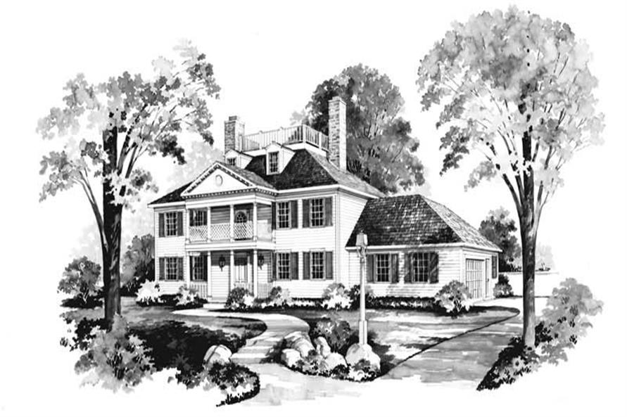 4-Bedroom, 3079 Sq Ft Home Plan - 137-1182 - Main Exterior