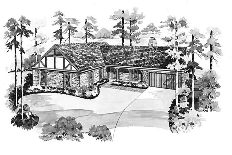 3-Bedroom, 1971 Sq Ft European House Plan - 137-1184 - Front Exterior