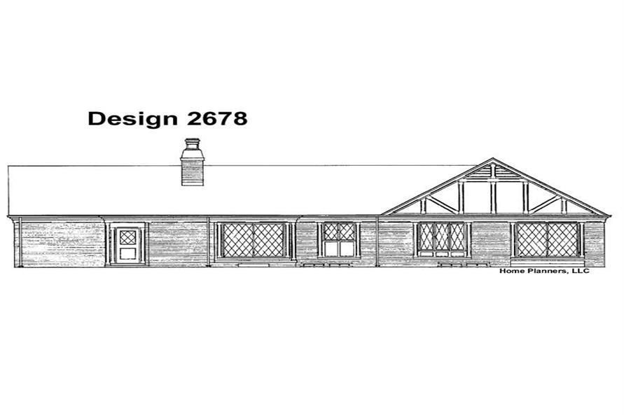 Home Plan Rear Elevation of this 3-Bedroom,1971 Sq Ft Plan -137-1184