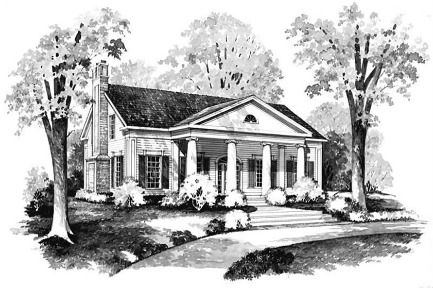 Home Plan Front Elevation of this 3-Bedroom,2291 Sq Ft Plan -137-1187