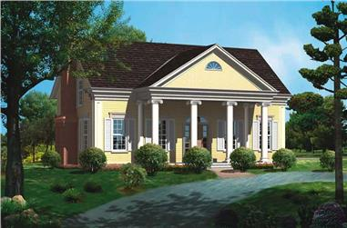 3-Bedroom, 2291 Sq Ft Historic Home Plan - 137-1187 - Main Exterior