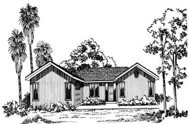 3-Bedroom, 1452 Sq Ft Ranch House Plan - 137-1190 - Front Exterior