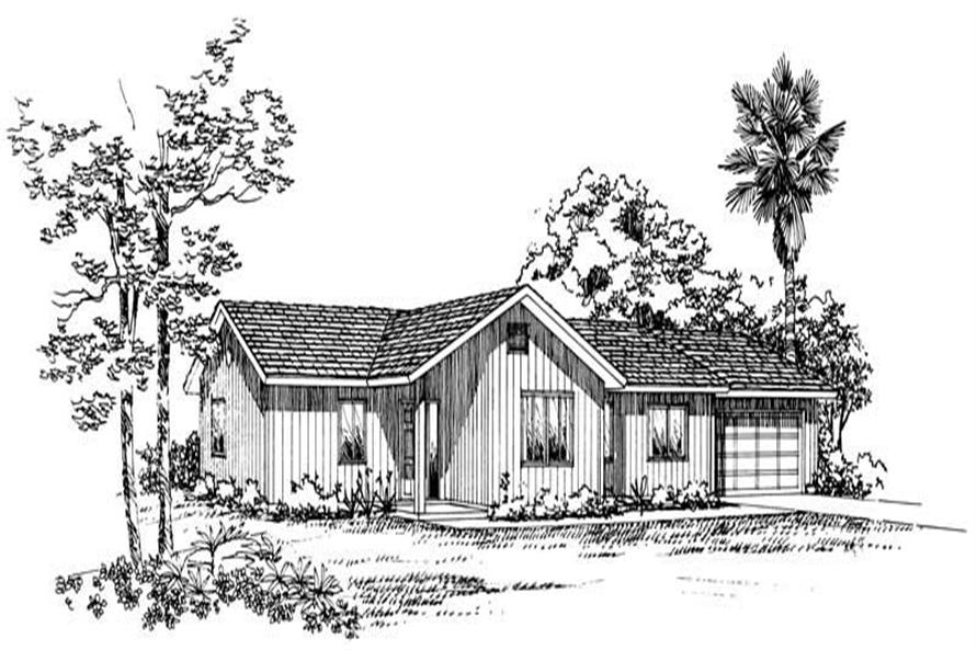 3-Bedroom, 1480 Sq Ft Country House Plan - 137-1191 - Front Exterior
