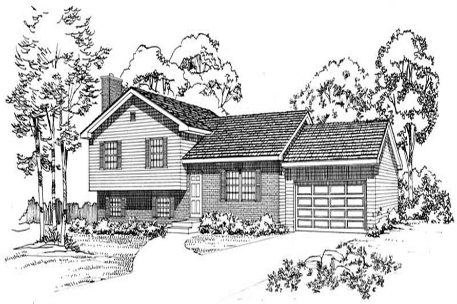 4-Bedroom, 1632 Sq Ft Cape Cod House Plan - 137-1192 - Front Exterior