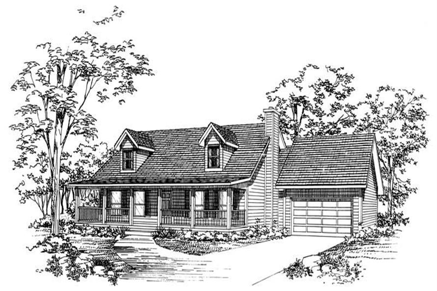 3-Bedroom, 2107 Sq Ft Country House Plan - 137-1193 - Front Exterior