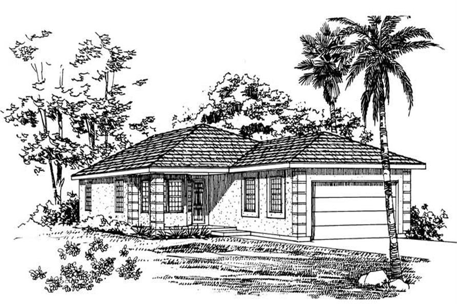 3-Bedroom, 1419 Sq Ft Bungalow Home Plan - 137-1194 - Main Exterior