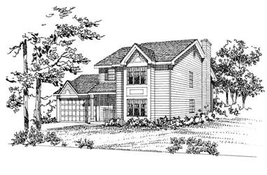 4-Bedroom, 2080 Sq Ft Colonial Home Plan - 137-1198 - Main Exterior