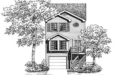 2-Bedroom, 1067 Sq Ft Country House Plan - 137-1202 - Front Exterior