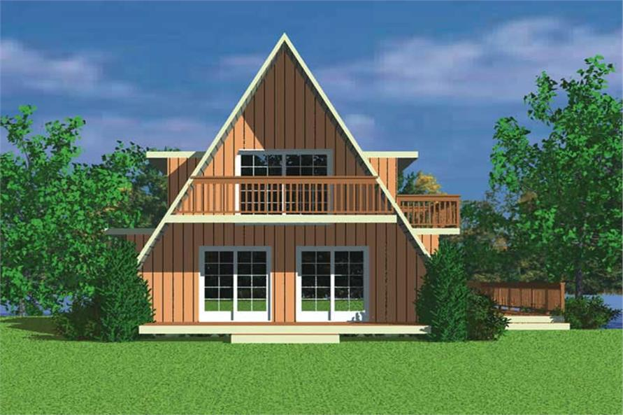 Contemporary a frame house plans home design hw 3743 for Modern a frame homes