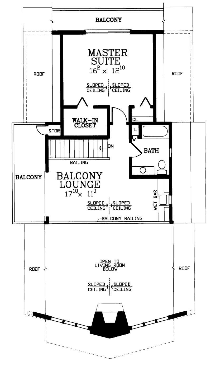 Contemporary, A Frame House Plans - Home Design HW-3743 ...