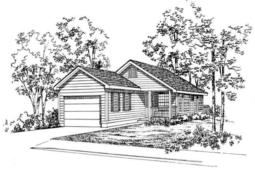 Main image for house plan # 18012