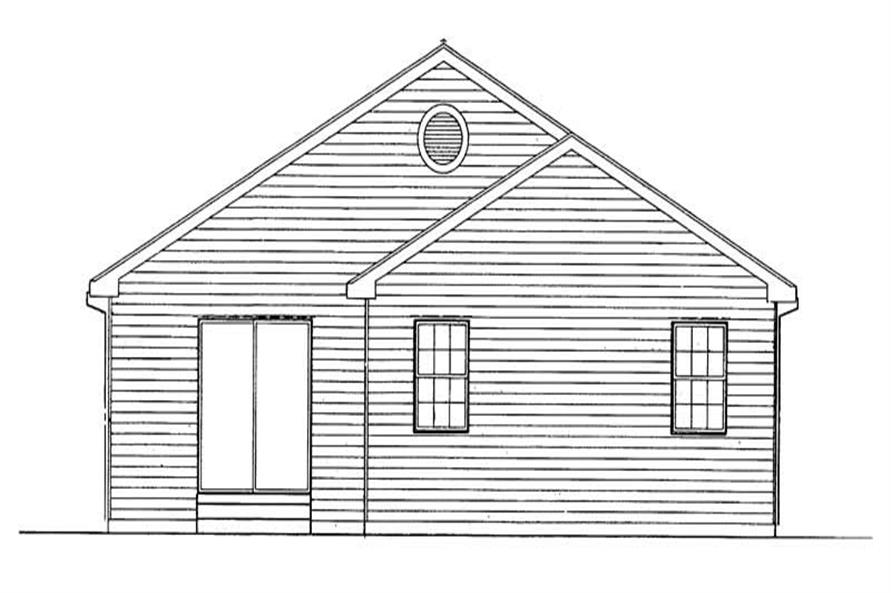Home Plan Rear Elevation of this 4-Bedroom,1648 Sq Ft Plan -137-1207