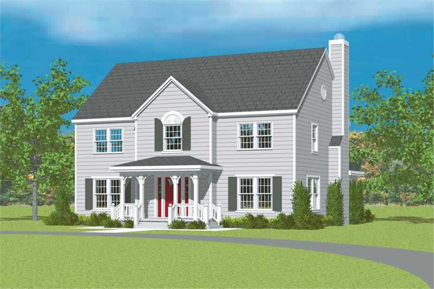 4-Bedroom, 2271 Sq Ft Country House Plan - 137-1208 - Front Exterior