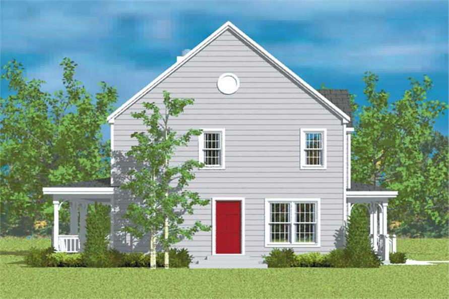 Home Plan Left Elevation of this 4-Bedroom,2271 Sq Ft Plan -137-1208