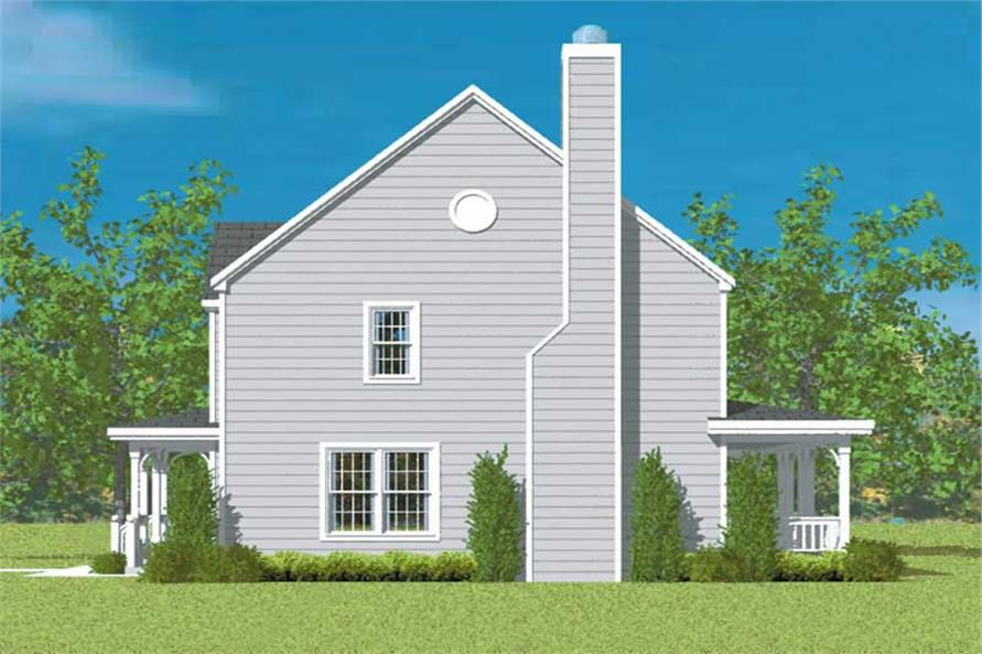 Home Plan Right Elevation of this 4-Bedroom,2271 Sq Ft Plan -137-1208