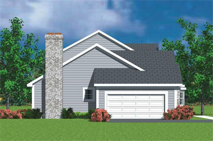 Home Plan Left Elevation of this 3-Bedroom,2030 Sq Ft Plan -137-1213