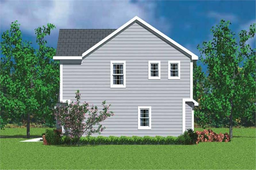 Home Plan Right Elevation of this 3-Bedroom,2030 Sq Ft Plan -137-1213