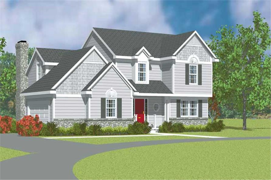 3-Bedroom, 2024 Sq Ft Traditional House Plan - 137-1214 - Front Exterior