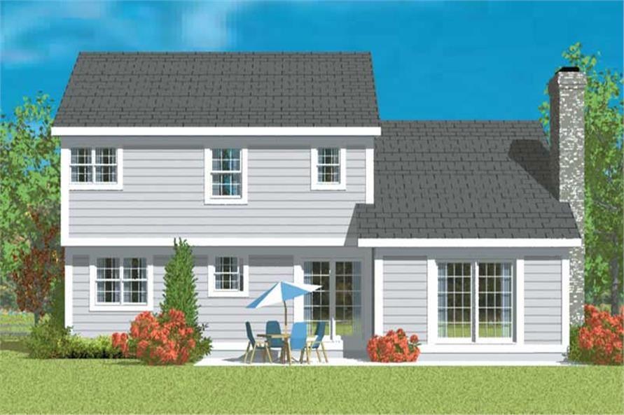 Home Plan Rear Elevation of this 3-Bedroom,2024 Sq Ft Plan -137-1214