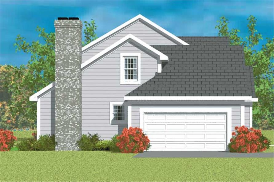 Home Plan Left Elevation of this 3-Bedroom,2024 Sq Ft Plan -137-1214