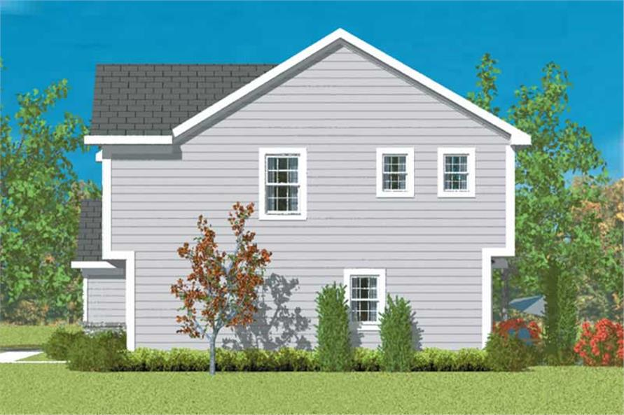 Home Plan Right Elevation of this 3-Bedroom,2024 Sq Ft Plan -137-1214