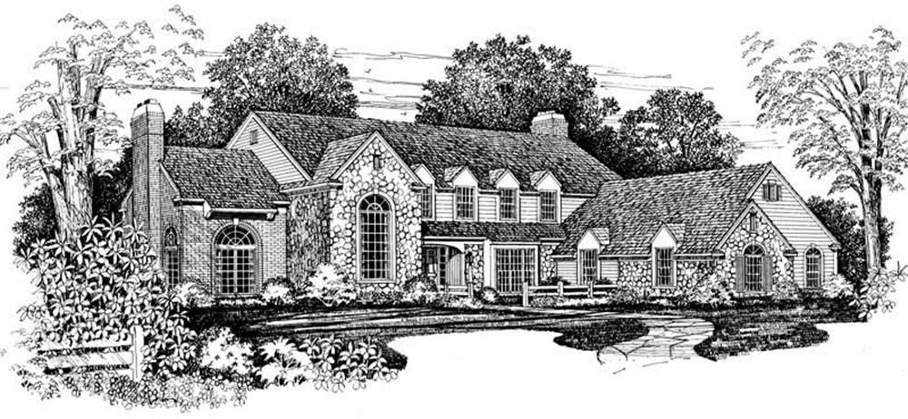 Colonial home (ThePlanCollection: Plan #137-1216)