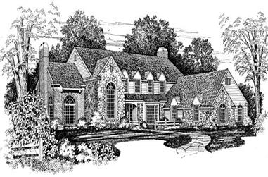 4-Bedroom, 4349 Sq Ft Colonial House Plan - 137-1216 - Front Exterior