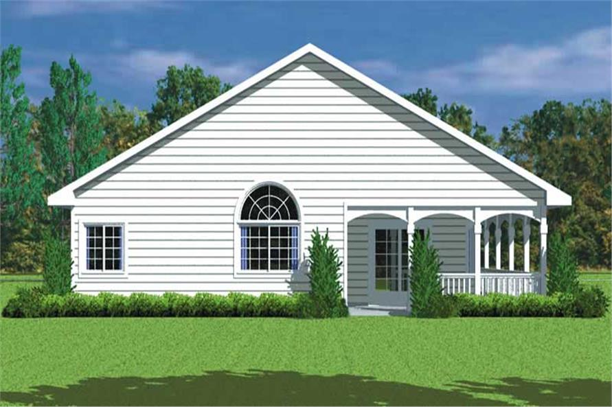Home Plan Rear Elevation of this 3-Bedroom,1676 Sq Ft Plan -137-1217