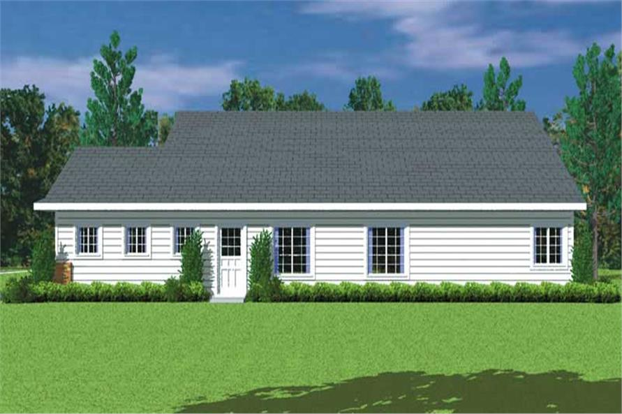 Home Plan Right Elevation of this 3-Bedroom,1676 Sq Ft Plan -137-1217