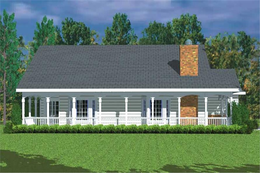 Home Plan Left Elevation of this 3-Bedroom,1676 Sq Ft Plan -137-1217