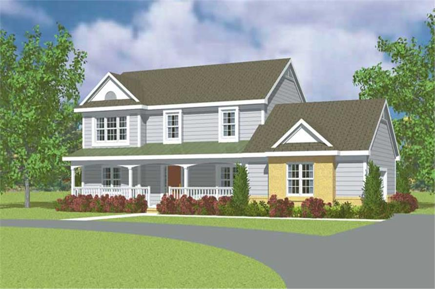 3-Bedroom, 2299 Sq Ft Country Home Plan - 137-1218 - Main Exterior