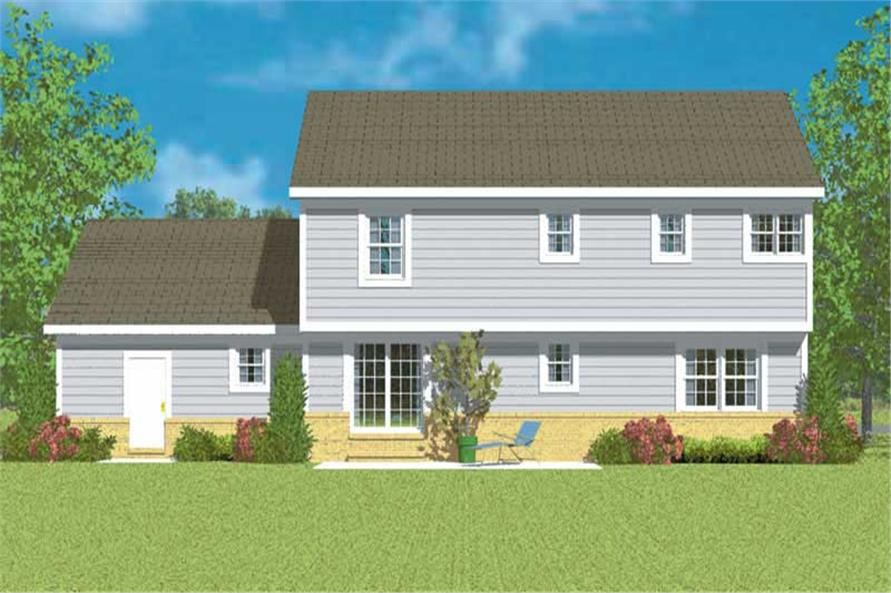 Home Plan Rear Elevation of this 3-Bedroom,2299 Sq Ft Plan -137-1218