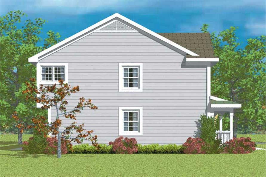 Home Plan Left Elevation of this 3-Bedroom,2299 Sq Ft Plan -137-1218